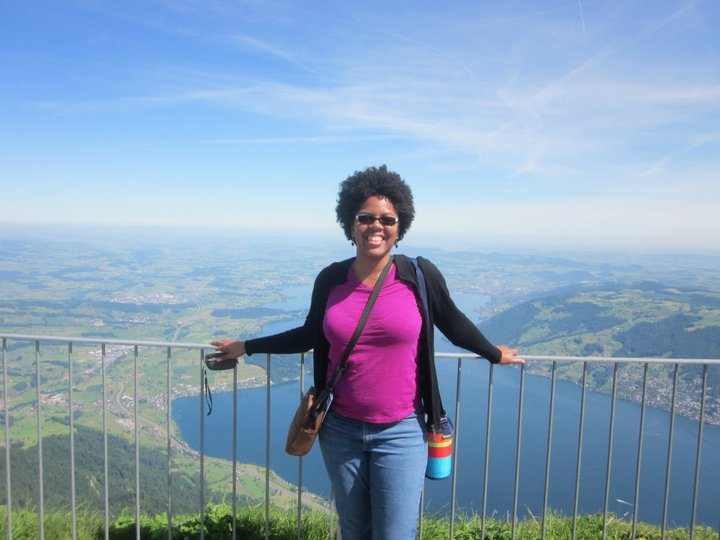After hiking to the top of Mt. Rigi, Switzerland.