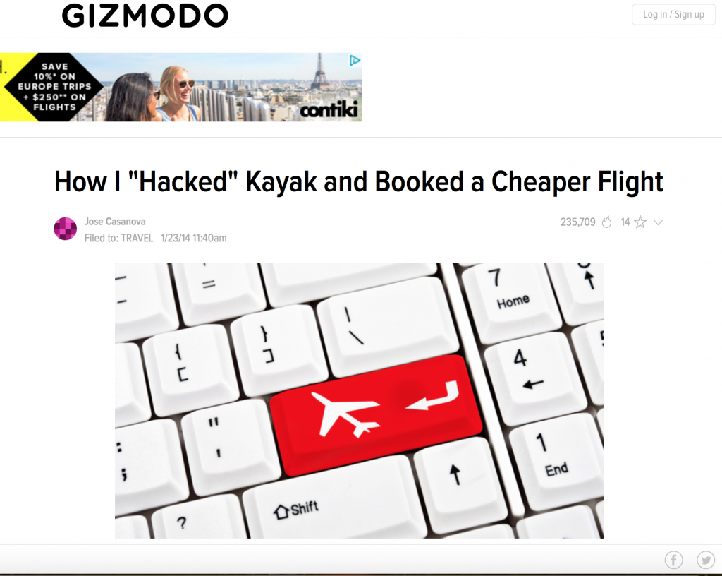 "​How to ""Hack"" Kayak and Book a Cheaper Flight!"