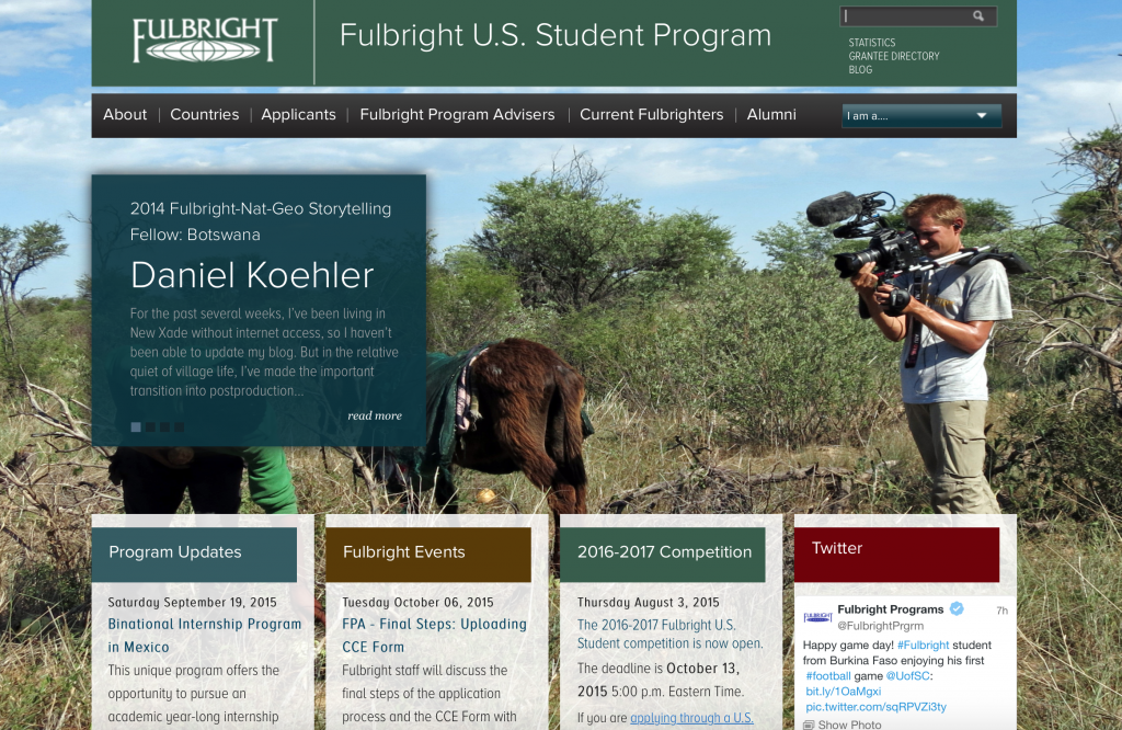 Need Funding for travel? Want to lend your skills and expertise while abroad? Apply for a Fulbright Fellowship abroad.