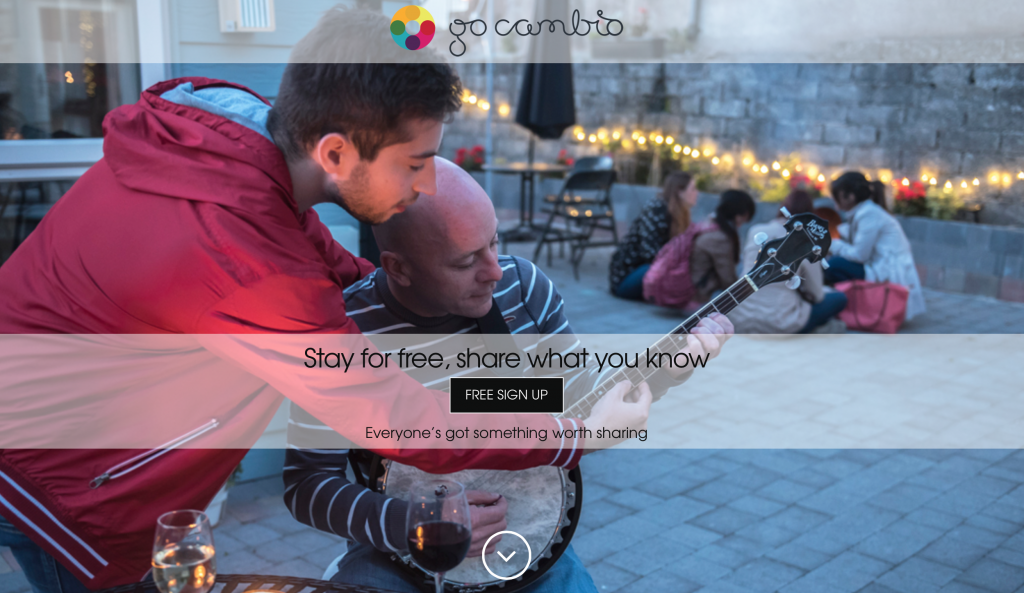 Everyone's got something worth sharing. Travel and exchange skills and languages with Go Cambio!