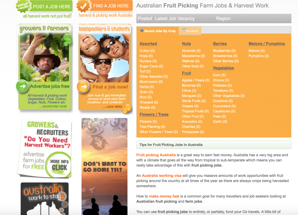 Always wanted to go Down Under? Apply to work on pristine farm picking fruits in the lovely Aussie sunshine!