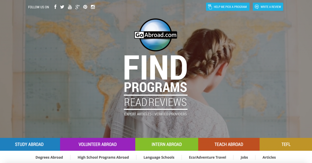 Go Abroad is your one-stop-shop for information on studying, interning, teaching, and volunteering abroad!