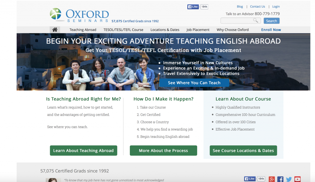 Teach English Abroad & Start Your Adventure!with Oxford Seminars.