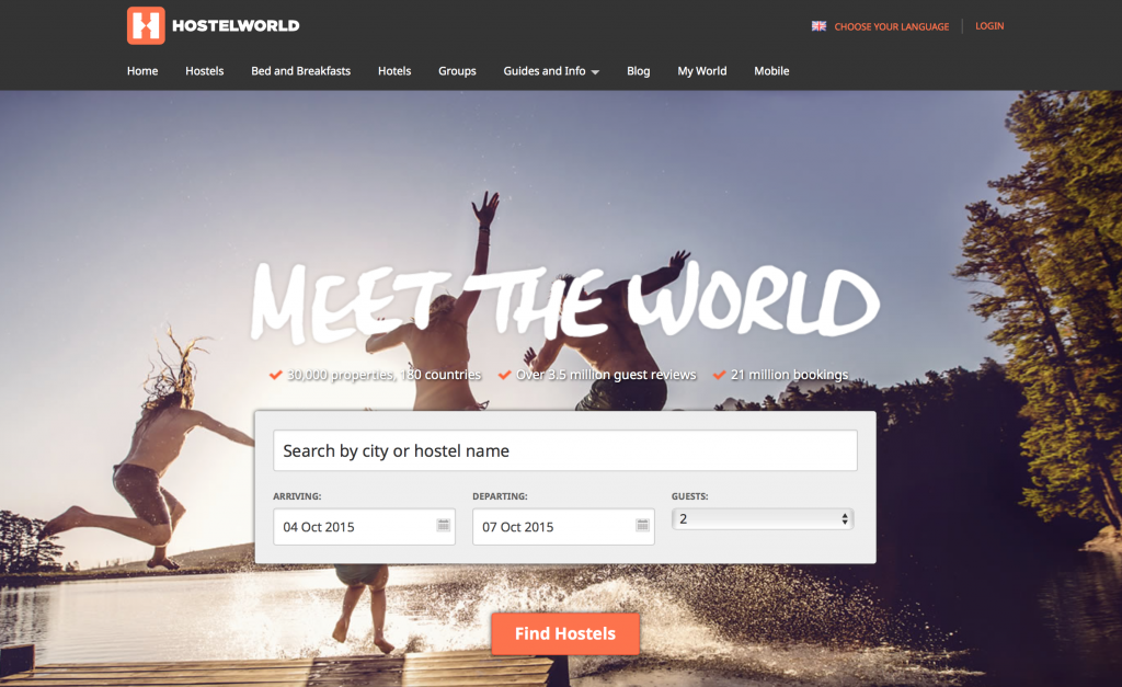 Save money on lodging and meet the world through Hostel World!