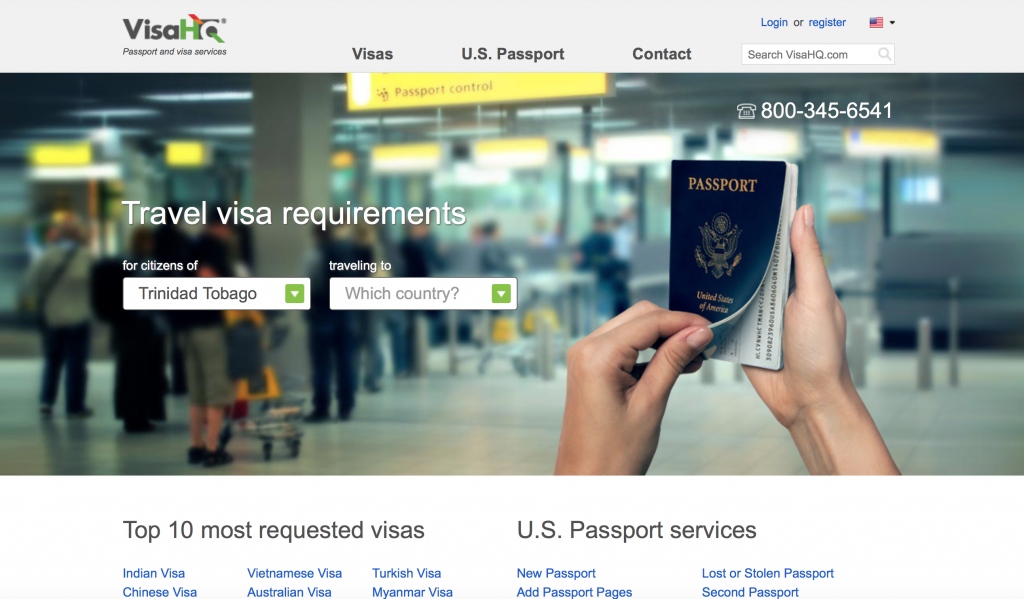 Such a convenient website -- plug in your country of residence and your destination!