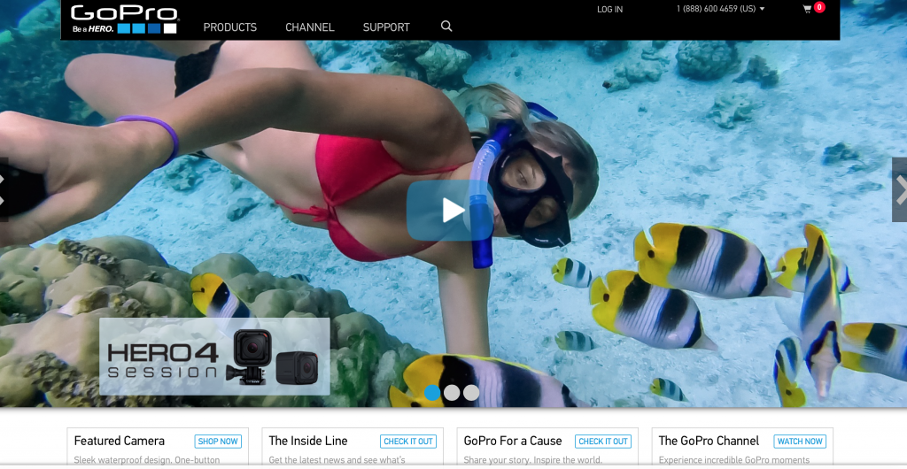 The GoPro encourages you to wear it , mount it, and love it! These cameras deliver professional video and photo quality and, more importantly -- PORTABILITY! :)
