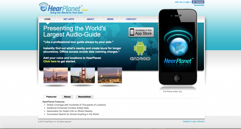 HEARPLANET is the AMAZING APP that provides free talking tours. Now it's FREE to LEARN about the strange and beautiful place you find yourself in! :)
