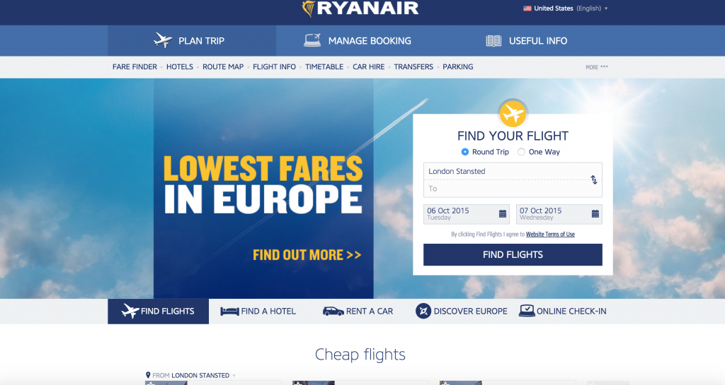 RYANAIR boasts the LOWEST FARES IN EUROPE and they aren't lying! You can buy flights between European countries for $10+! So, why not? :)