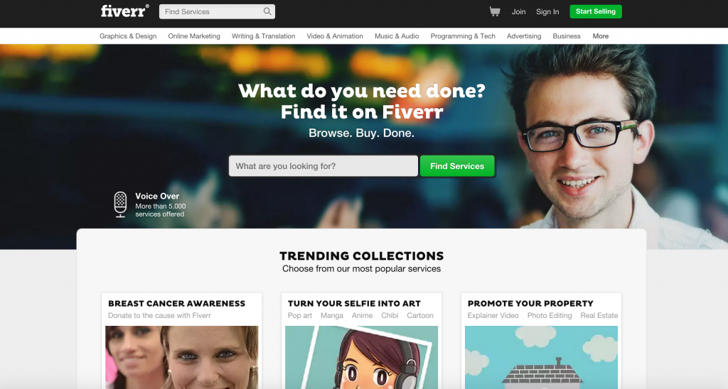 FIVERR makes getting PAID for the GIG YOU LOVE easy as 1-2-3! Create your gig and start selling from $5! From turning selfies into art to shooting green screen video -- Fiverr is the place to get hired! :D