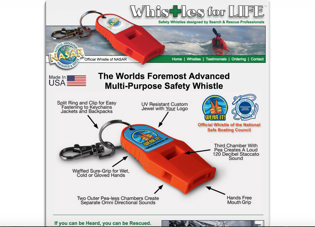 "You saw Reese Witherspoon whip it out and scare a animals away in the movie ""Wild."" But the Whistles for Life SAFETY WHISTLES can be used to alert for help or deter someone. You can never be to safe, no?"