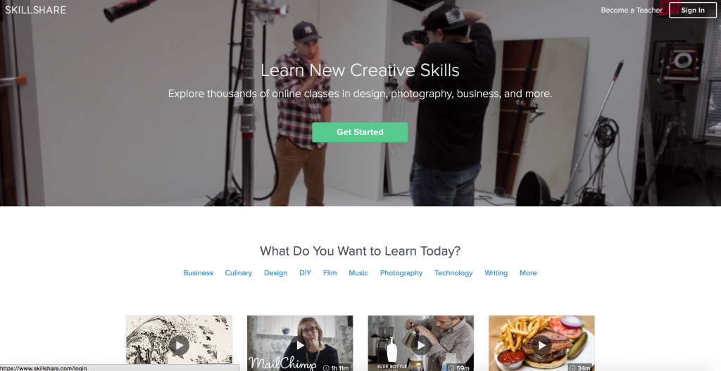 Are you a SKILLED PROFESSIONAL? Would you like to SHARE those skills? Become a teacher and CREATE a CLASS ON SKILLSHARE and gain ACCESS to over 1 MILLION STUDENTS in 150 countries! :)