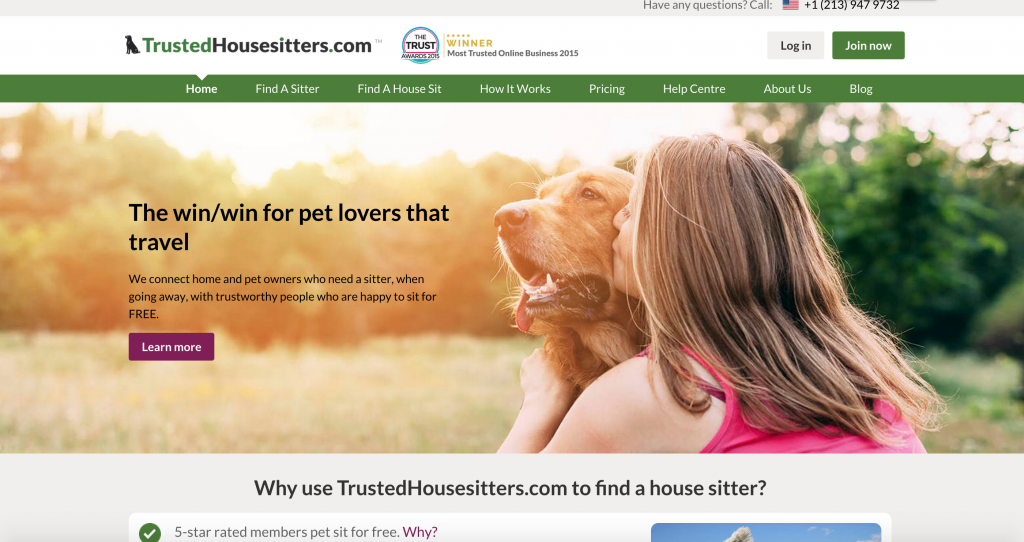 The MOST TRUSTED ONLINE BUSINESS for 2015! DON'T want to WORK? How about getting PAID for HOUSE SITTING! Let Trusted House Sitters get you the best GIG and CRIB! :)