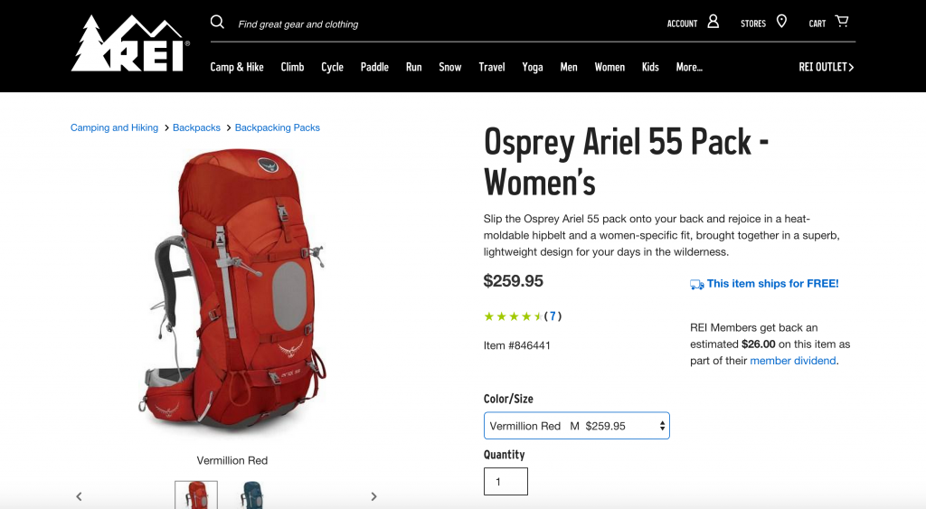 ROLLING hand luggage and suitcases behind you on crowded streets gets old if you're CONSTANTLY on the MOVE! The Osprey Ariel 55 pack is COMFORTABLE and LIGHTWEIGHT with a heat-moldable hip belt! SLIP it on and WANDER FREELY! :)