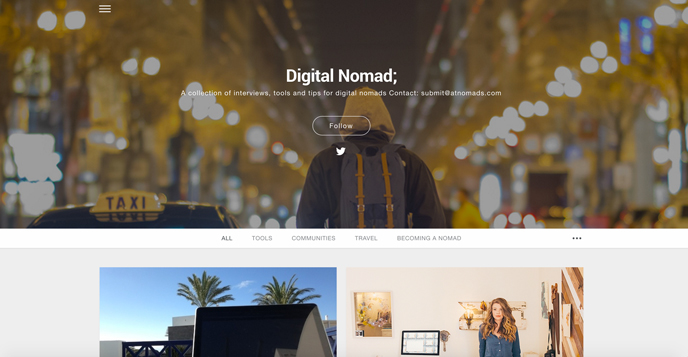 DIGITAL NOMAD is a collection of interviews, TOOLS and TIPS for digital nomads! Let the location independent veterans GUIDE you! :)