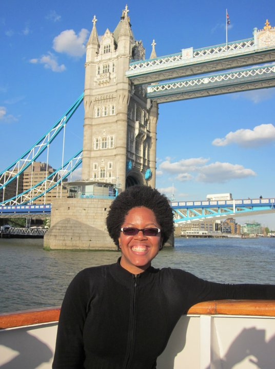 Sailing under the Tower Bridge, London.