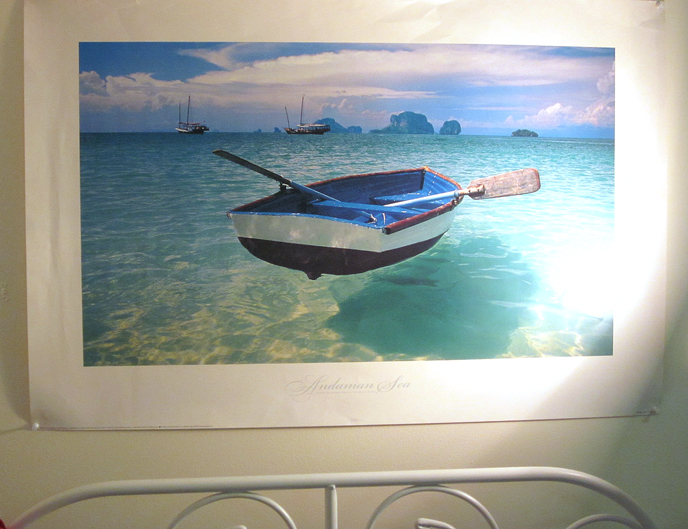 "The poster of the Andaman Sea that reminds me that"" ""to those who can dream there is no such place as far away."""