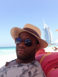 Marvin lounging in Dubai!