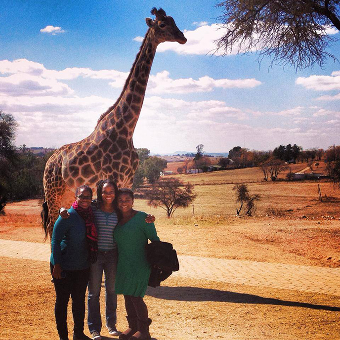 Mandisa smiling in South Africa! :)
