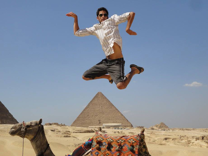 Napoleon ecstatic in Egypt! :)