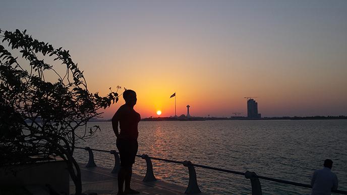 Kim daydreaming in Abu Dhabi. :)